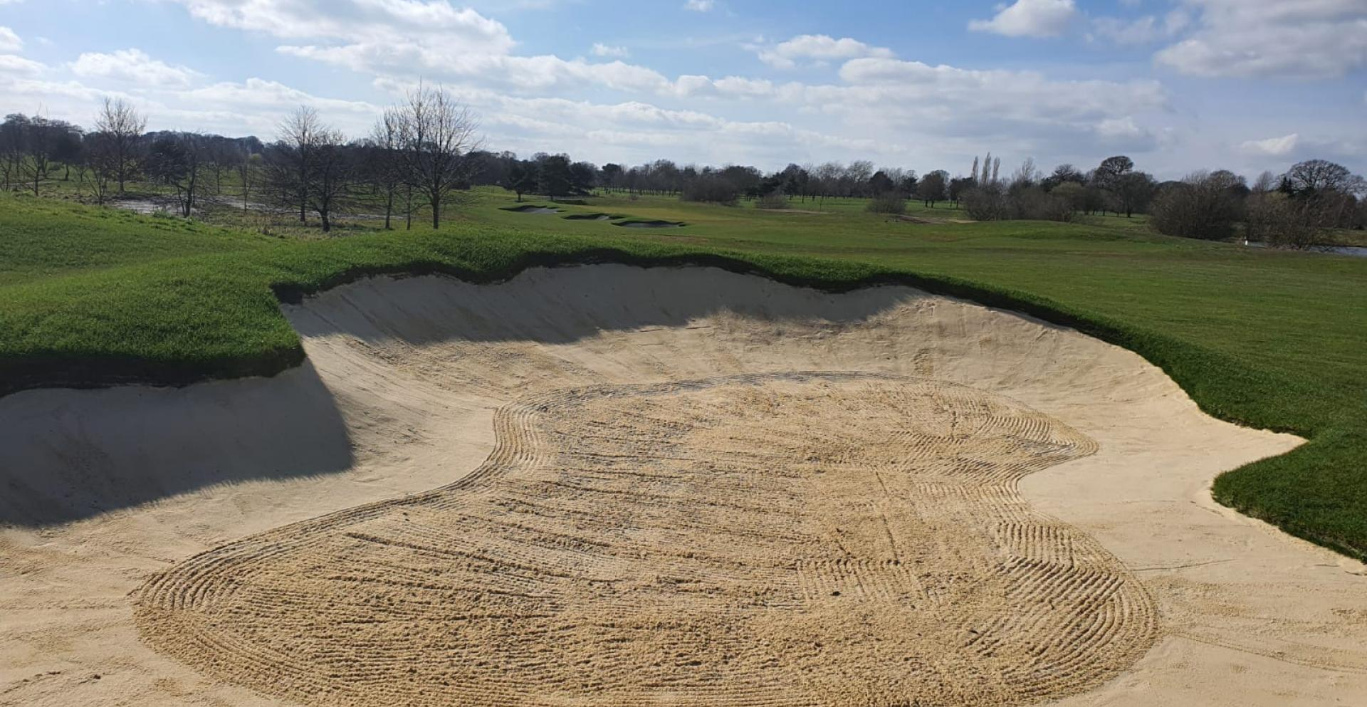 New bunkers on the 15th near completion