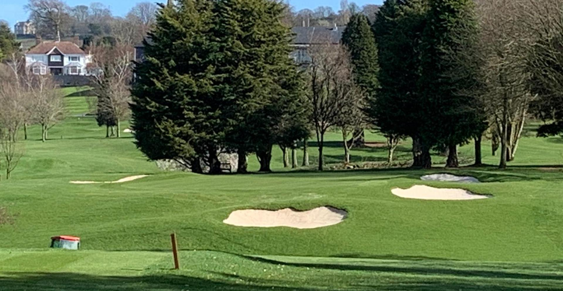 The renovated 14th hole at Belvoir Park
