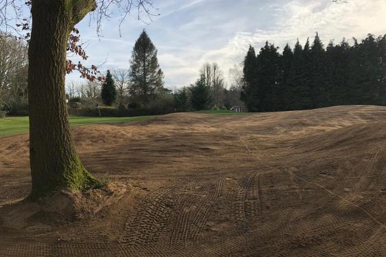 Renovated 10th green surround