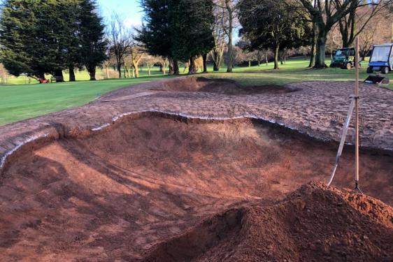 Bunkers under construction at Belvoir Park