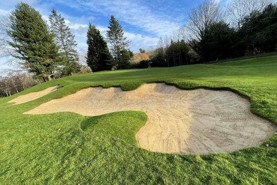 The renovated 4th Hole at Aspley Guise