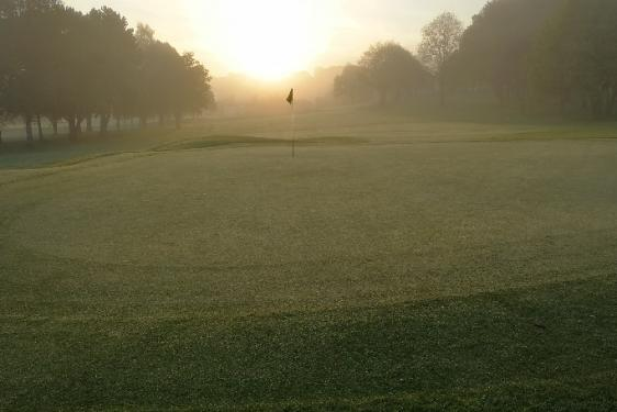 Yeovil Golf Club at sunrise